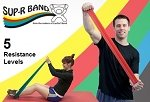 Sup-R Band Latex-Free Exercise Bands with 5 Levels of Resistance